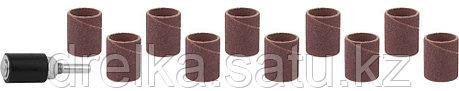 Цилиндр STAYER шлифовальный абразивный, с оправкой, d 18,7мм, Р 80/120, 10шт , фото 2