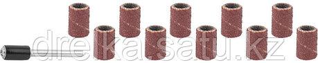 Цилиндр STAYER шлифовальный абразивный, с оправкой, d 6,25мм, Р80/120, 10шт, фото 2