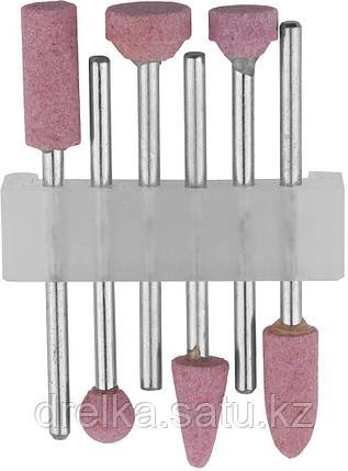 Набор STAYER: Насадки шлифовальные абразивные с оправкой, оксид алюминия, 6шт , фото 2