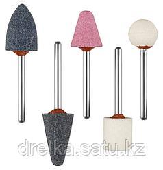 """Набор ЗУБР """"МАСТЕР"""": Абразивные мини шарошки-насадки для гравера и дрели, хвостовик d 3,2мм, 5 предм."""