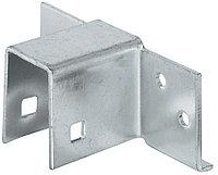 Соединитель каркаса кровати, 19 мм, сталь, оцинкованная поверхность