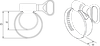 Хомут червячный PLB-9(16-25)/W2, фото 2