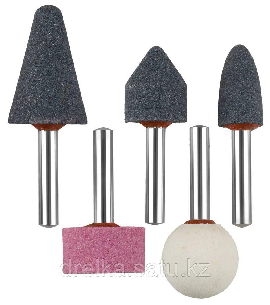 """Набор ЗУБР """"МАСТЕР"""": Абразивные минишарошки-насадки для  дрели, хвостовик d 6мм, 5 предм."""