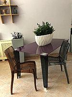 Стеклянный обеденный стол и 6 стульев набор, фото 1