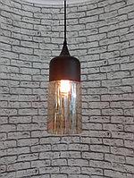 Стеклянная одноламповая люстра, фото 1