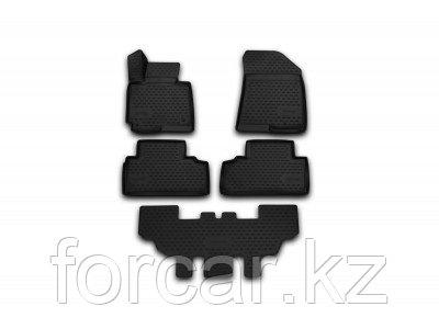 "Коврики в салон автомобиля ""3D"", для Kia Carens, 2013->, 7 мест, 5 шт"