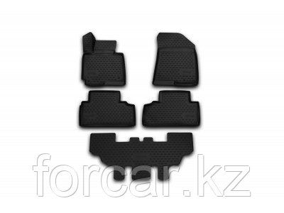 "Коврики в салон автомобиля ""3D"", для Kia Carens, 2013->, 7 мест, 5 шт, фото 2"