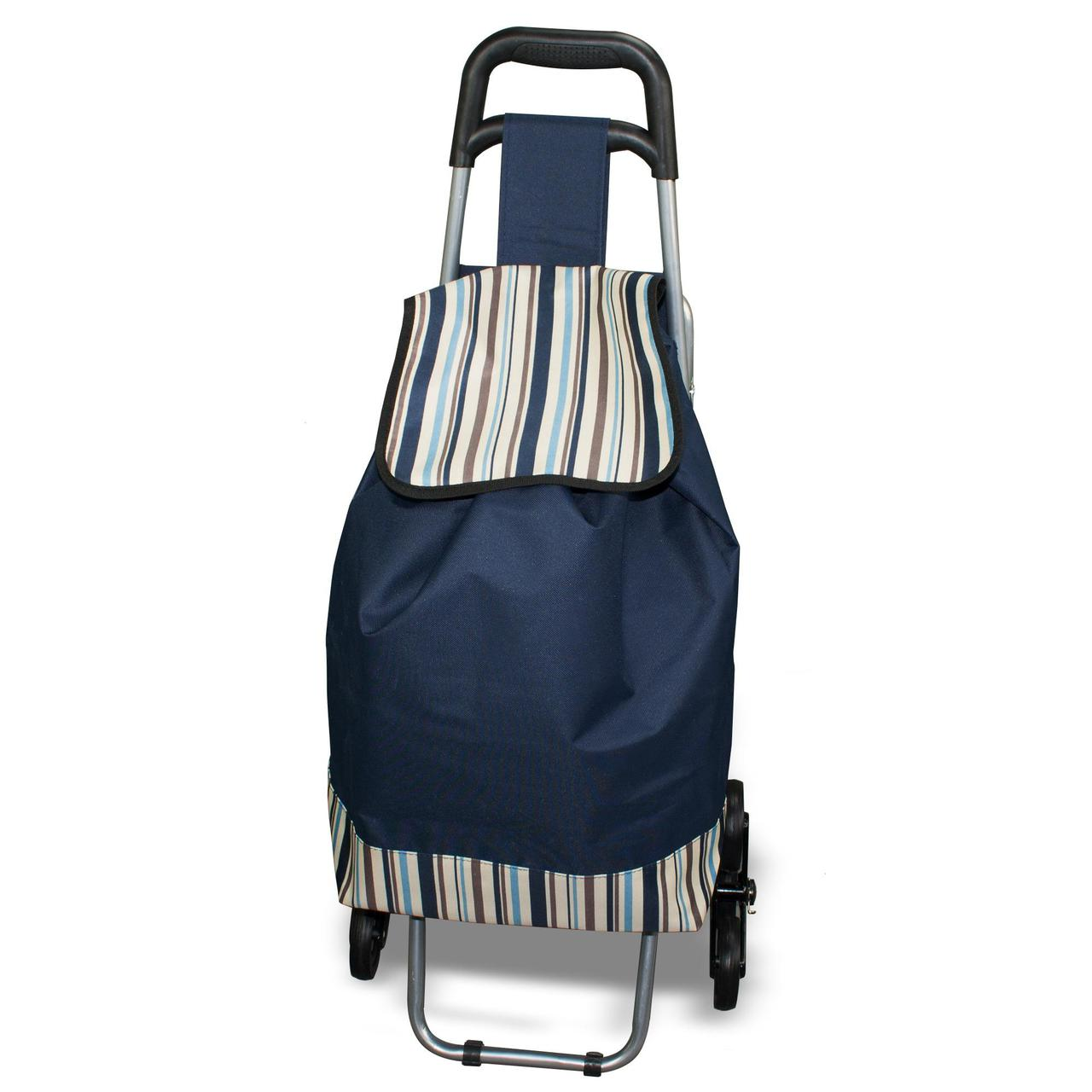 Сумка-тележка на колесах со складным стулом