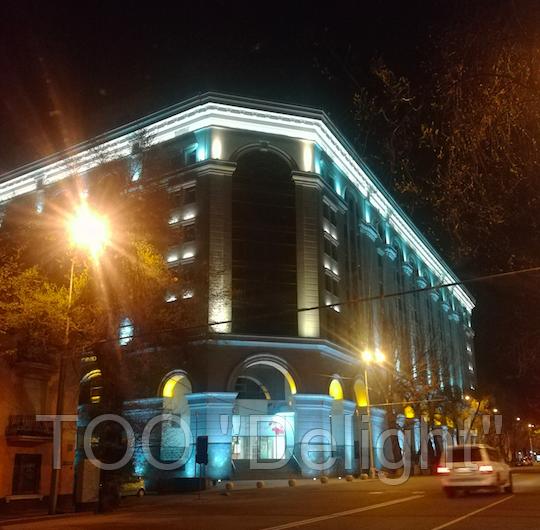 Уличное освещение ТЦ КАЙСАР