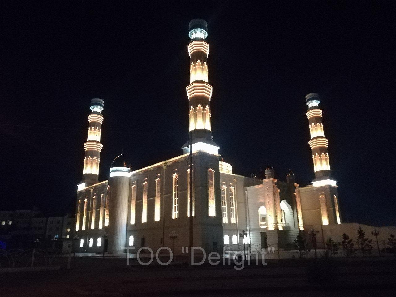 Освещение Мечети в г. Кокшетау