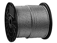 Стальной трос, оцинкованный, DIN 3055, d=5 мм, L=150 м, ЗУБР Профессионал 4-304110-05, фото 1