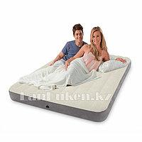 Ортопедический полуторный надувной матрас 203х152х25 см Intex 68109