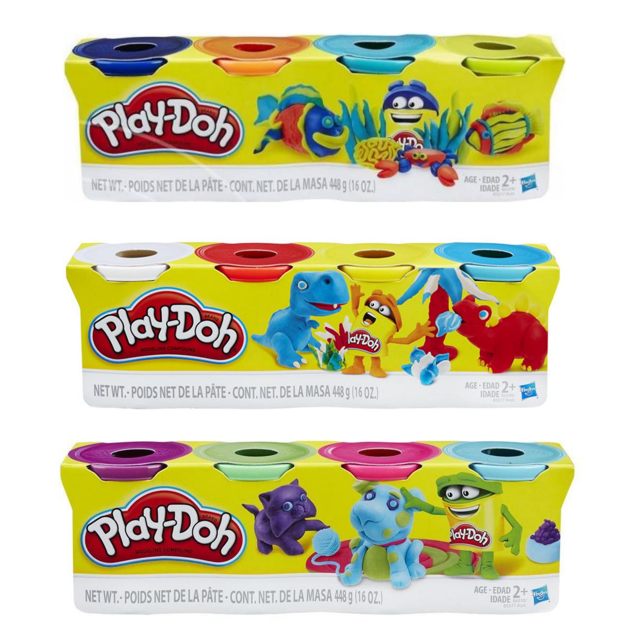 Hasbro Play-Doh Игровой набор из 4 баночек + 2, в ассортименте