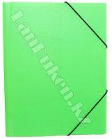 Папка на резинке для документов (зеленая)