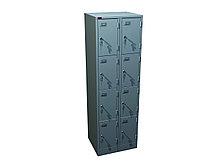 Двухсекционный металлический шкаф для сумок ШРМ-28