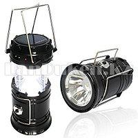 """Ручной светодиодный фонарь 2 в 1 черный """"Rechargeable Camping Lantern SH-5800T"""" с USB выходом"""