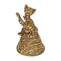 Колокольчик Кот с гитарой Н=55мм