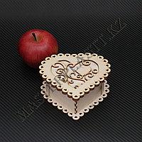 """Подарочная коробка - """"Сердце"""" из дерева, фото 1"""