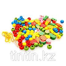 Деревянная шнуровка - Ежик с плодами, фото 3
