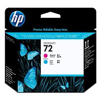 HP Magenta and Cyan Printhead №72