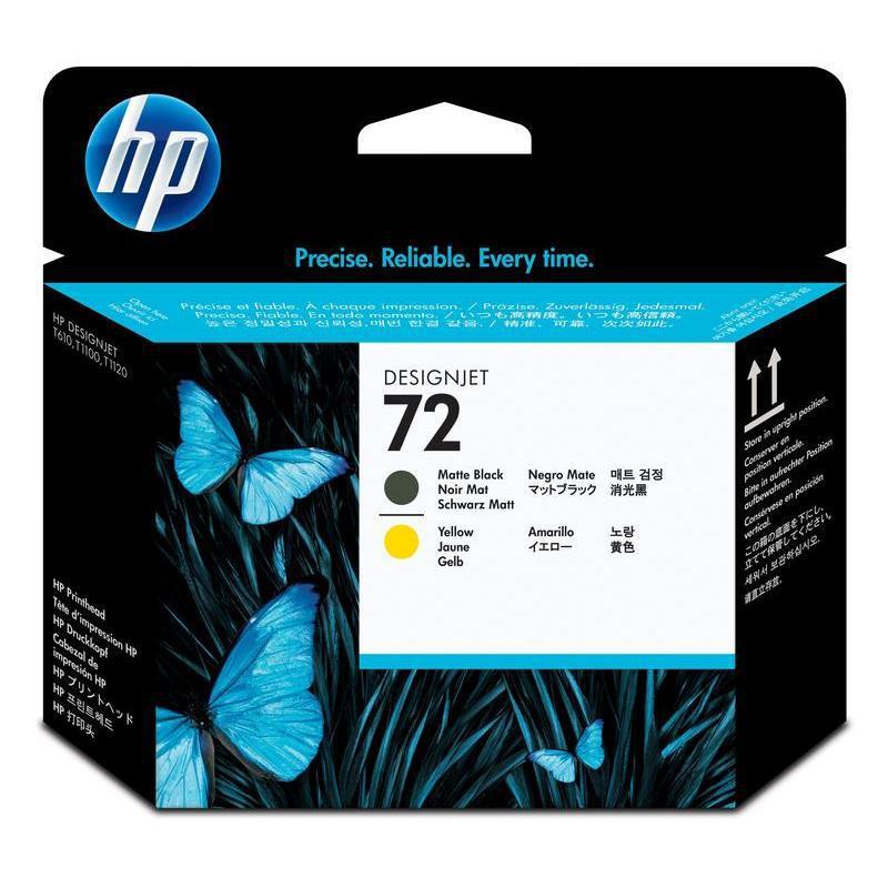 HP Matte Black and Yellow Printhead №72