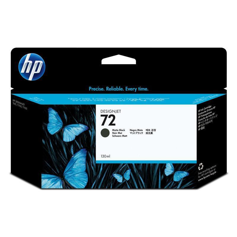 HP Matte Black Ink Cartridge Vivera №72