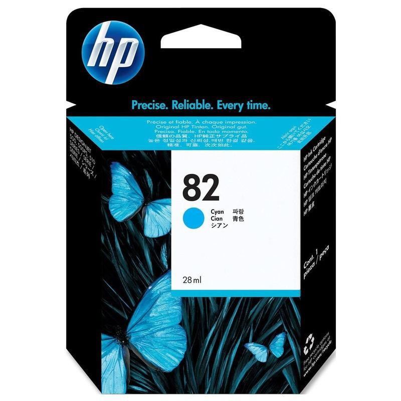 HP Cyan Ink Cartridge №82
