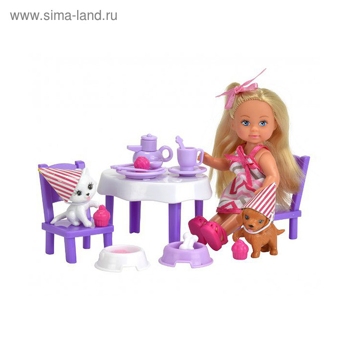 Кукла «Еви» с набором «День рождения питомцев» - фото 1