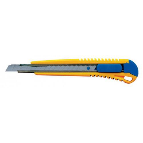 Нож канцелярский SILWERHOF 9 мм, 2 запасных лезвия