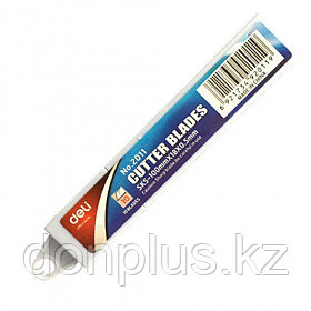 Лезвия запасные DELI для канцелярских ножей, 18 мм (10 шт/упак)