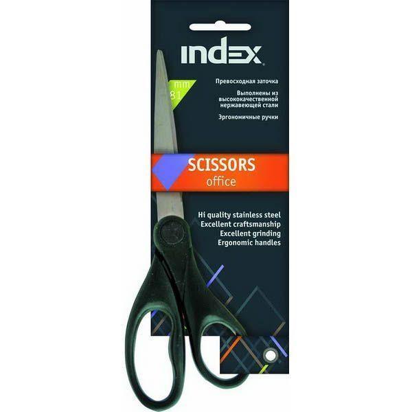 Ножницы INDEX 18,1 см, пластиковые ручки