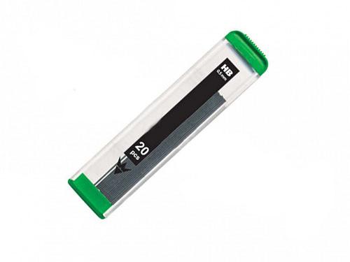 Грифели SILWERHOF для механических карандашей, 0,5 мм., НВ, 20 шт/упак