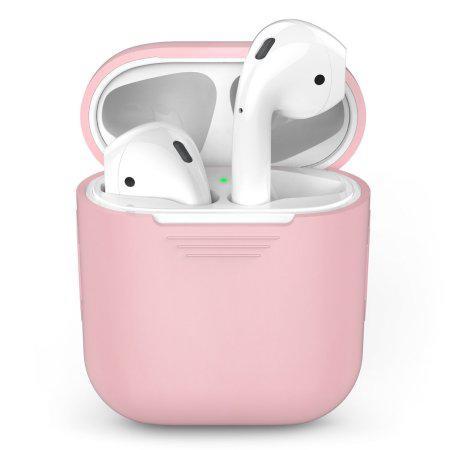 Силиконовый чехол для Apple AirPods (розовый)