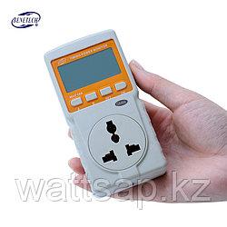 Измеритель параметров потребления электроэнергии, ваттметр Benetech с таймером и часами GM88 (до 10А), 2,2 кВт