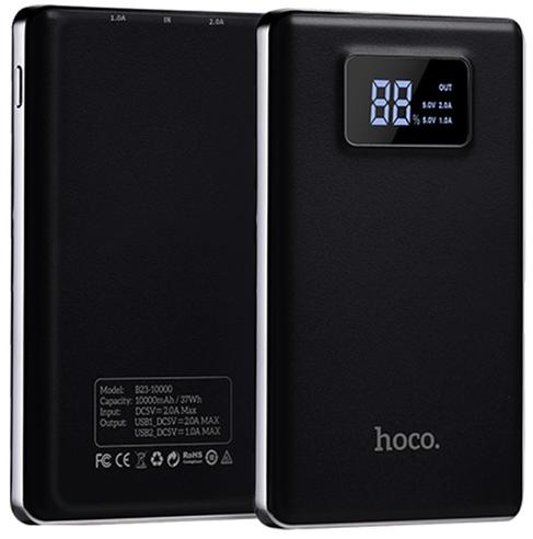 Дополнительный аккумулятор Hoco B23 Power Bank 10000 mAh (черный)