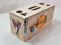 Тактильный сундук-сортер с дверцами и замочками