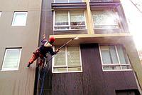 Мытье фасадов коттеджей