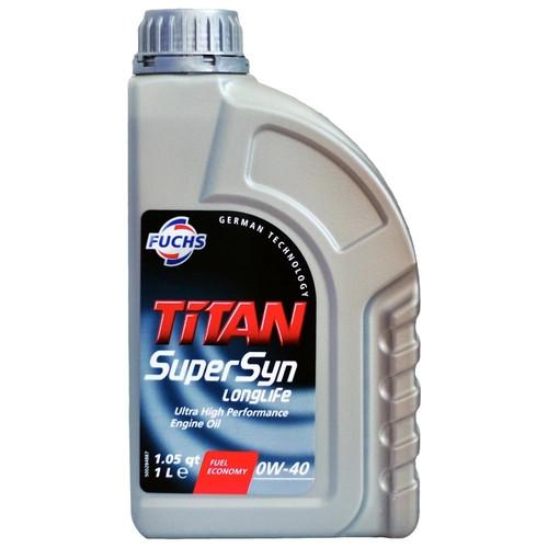 Моторное масло TITAN SUPERSYN LONGLIFE 0W-40 FUCHS 1L (Германия)
