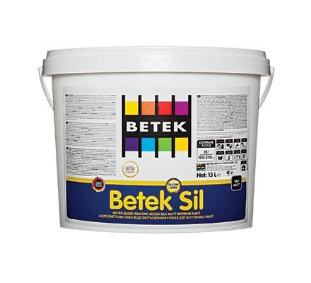 BETEKSIL  Декоративная, матовая, шелковистая краска с силиконовой добавкой 15л