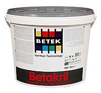 BETAKRİL Фасадная акриловая краска высокостойкая к перепадам температур и влажности 15л