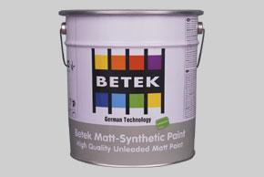 BETEK MATT- SYNTHETIC PAINT Синтетическая матовая краска на основе алкидной смолы 0,75л