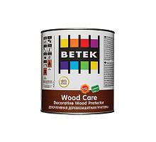BETEK WOOD CARE  Деревозащитное декоративное цветное матовое 0,75л