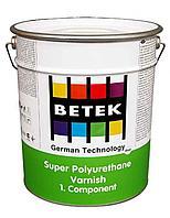 BETEK SUPER P.U. SILK  MATT VARNISH Полиуретановый полуматовый лак 3кг