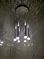 Люстра светодиодная Догонялка на 6 ламп серебро