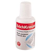 Корректирующая жидкость ERICH KRAUSE, 20 мл, с губкой