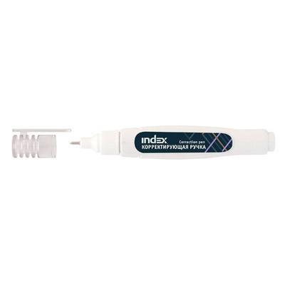 Корректирующая ручка INDEX, 7 мл, металлический наконечник