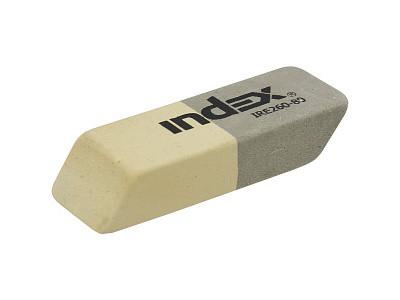 "Ластик INDEX ""IRE260"" серый, каучуковый"