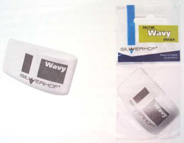 """Ластик SILWERHOF """"Wavy"""" в форме капли , белый"""