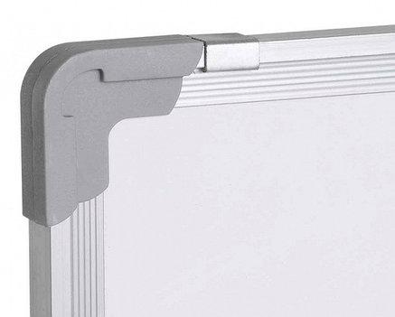 Доска 90*180 магнитно-маркерная, двухсторонняя, алюминиевая подставка, 4колеса., фото 2