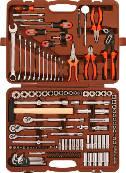 """(OMT150S18) Набор инструмента универсальный 1/4"""", 3/8"""" и 1/2""""DR, 150 предметов OMT150S"""
